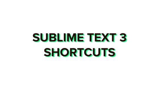 Sublime Text 3 shortcuts 2020 complete list for Windows and Mac + PDF