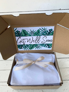 Get Well Soon Care Package, Surgery Gift box, Personalised Plant Gift + PLANTER