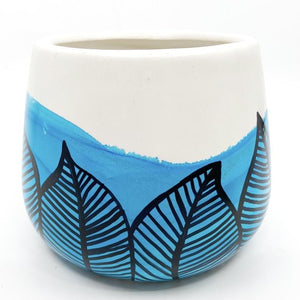 *NEW* 'Baha Palm' - Hand-painted Alcohol Ink Pot by Mix for Colour