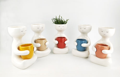 *NEW* Person Holding Pot Planter