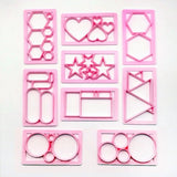 MINI ASSORTED GEOMETRIC SHAPE CUTTER SETS 9 TYPES