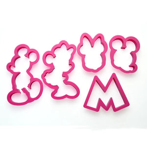 MICKEY & MINNIE MOUSE CUTTERS SET 5 PCS