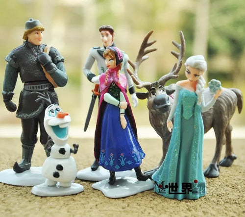FROZEN DOLL TOPPERS 6 PCS