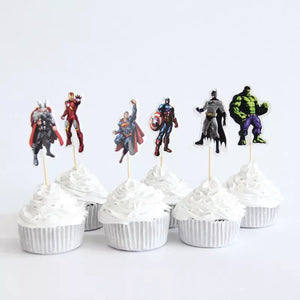 AVENGERS PAPER TOPPERS 24 PCS