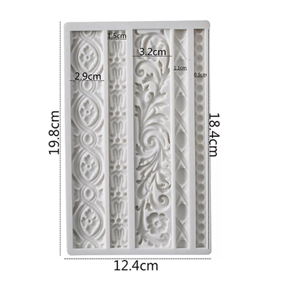 MURALS BORDER MOULD 5PCS