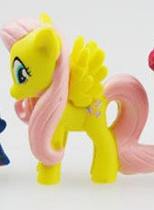 MINI LITTLE PONY CHARACTERS CUPCAKE TOPPER DOLLS SET