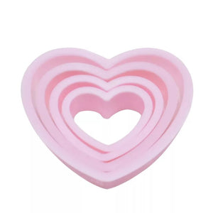 LOVE HEART CUTTER SET 4PCS