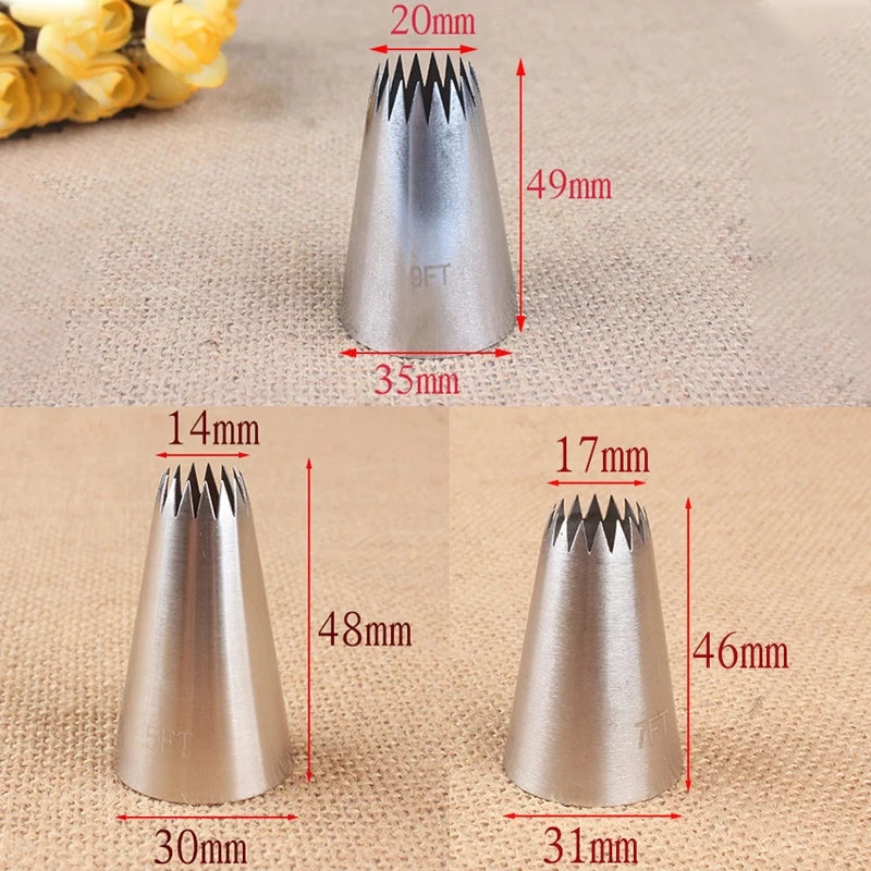 LARGE STAINLESS STEEL 3 PCS NOZZLE SET