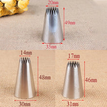 Load image into Gallery viewer, LARGE STAINLESS STEEL 3 PCS NOZZLE SET