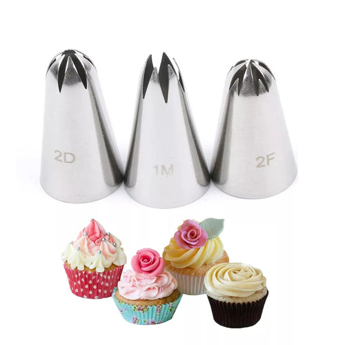 3 PC STAINLESS STEEL MEDIUM NOZZLE SET