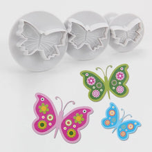 Load image into Gallery viewer, BUTTERFLIES PLUNGER CUTTER 3PC SET