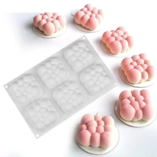 MINI 3D CUBE CLOUD CHOCOLATE MOUSSE MOULD