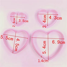 Load image into Gallery viewer, LOVE HEART CUTTER SET 4PCS