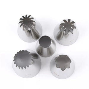 5 PC STAINLESS STEEL EXTRA LARGE NOZZLE SET
