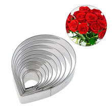 Load image into Gallery viewer, ROSE PETAL METAL CUTTER SET 10PCS