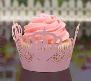 LASER CUT WEDDING CUPCAKE CAGES  - {12 Pcs}