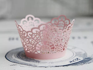 LASER CUT LACE CUPCAKE CAGES  - {12 Pcs}