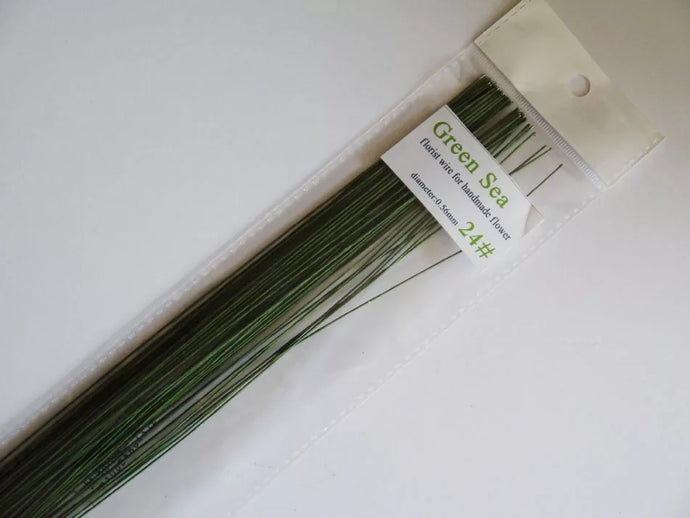 GREEN FLORAL WIRES GAUGE 26