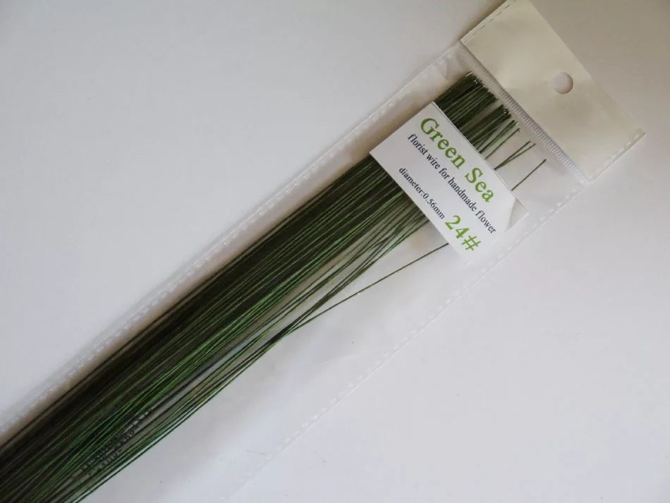 GREEN FLORAL WIRES GAUGE 20
