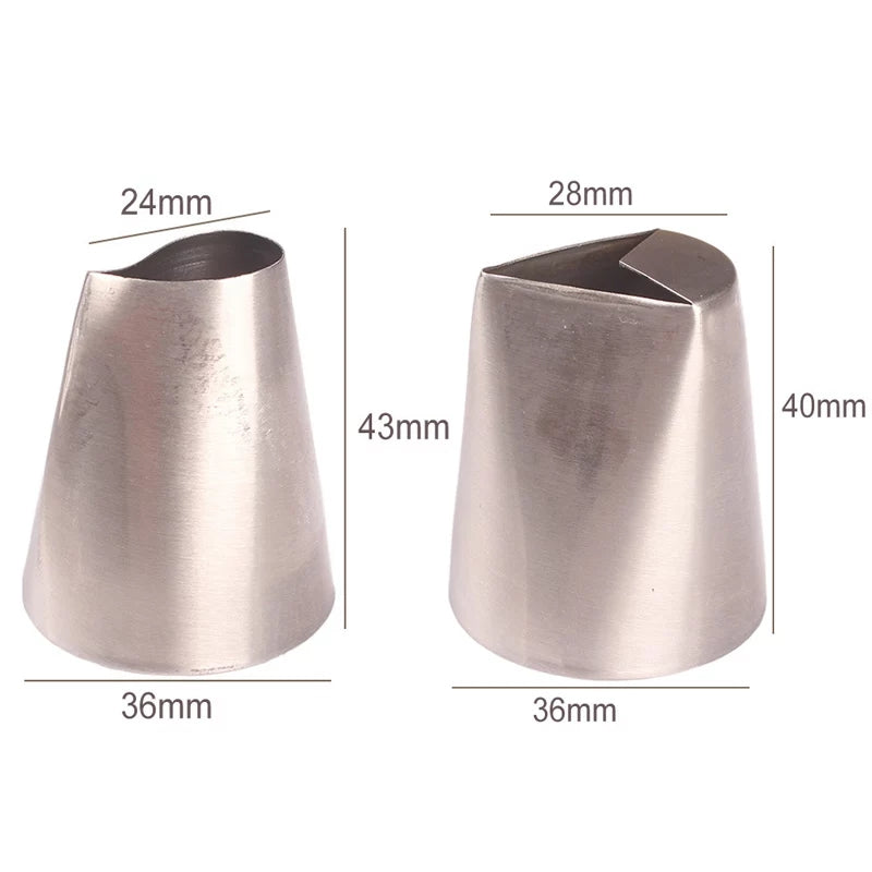 LARGE LEAVES STAINLESS STEEL NOZZLE SET 2PCS