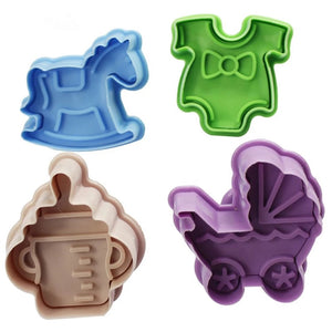 BABY SHOWER CUTTERS 4 PCS