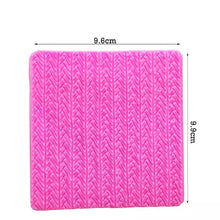 Load image into Gallery viewer, MINI SWEATER KNIT EMBOSSER/TEXTURE MAT/MOULD (RIBBED STITCH)