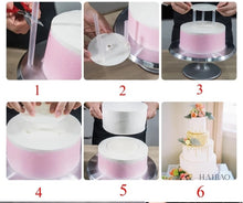 Load image into Gallery viewer, TIERED CAKE SUPPORTS WITH DOWELS SET (REUSABLE)