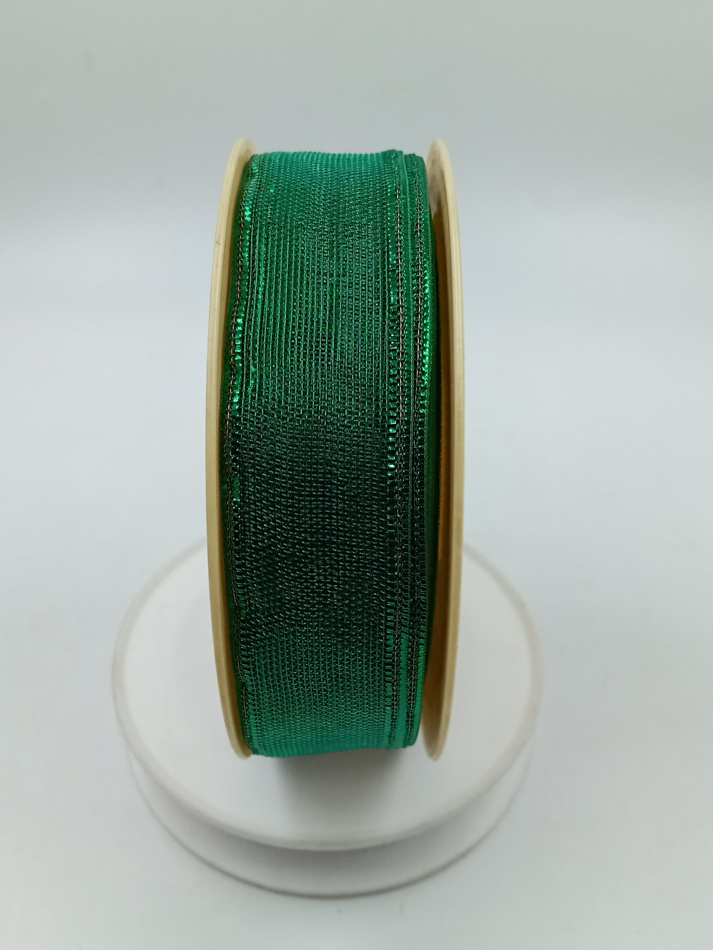 CHRISTMAS THEMED SHINY MESH RIBBONS 1.1 INCHES