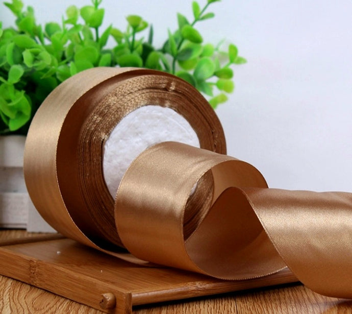 SATIN RIBBON (LIGHT BROWN)