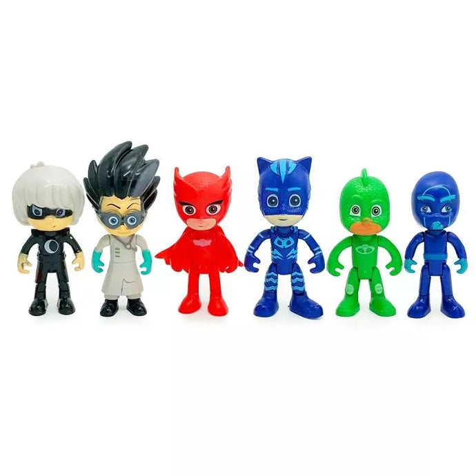 MINI PJ MASKS DOLLS CUPCAKE TOPPERS SET 6 PCS