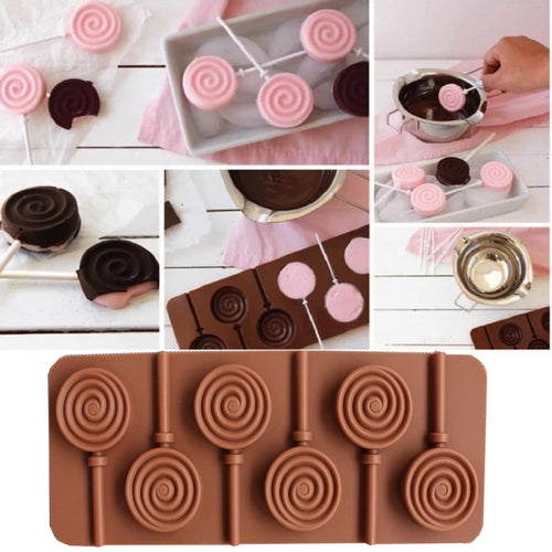 RAINBOW CANDY CHOCOLATE LOLLIPOP MOULD