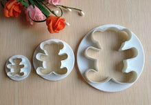 Load image into Gallery viewer, TEDDY BEAR COOKIE CUTTER SET 3PCS
