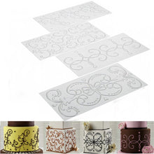 Load image into Gallery viewer, FONDANT EMBOSSER SCROLL IMPRINTS SET 4 PCS {CLEAR}