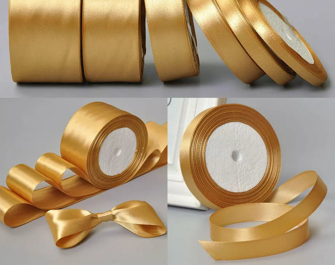 SATIN RIBBON (GOLD)