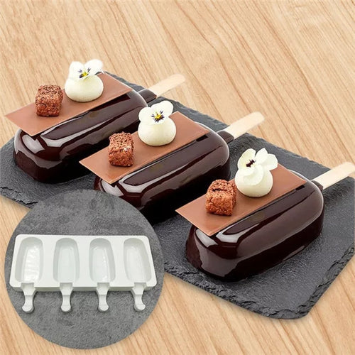 CAKESICLES/ICE POP/LOLLIPOP MOUSSE MOULD 4 PCS (LARGE)
