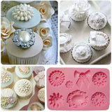 ASSORTED PEARL BROOCHES MOULD 7PC (GREY)