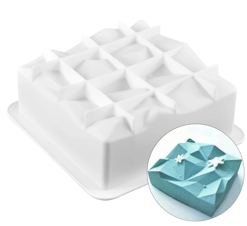 ORIGAMI TOP SQUARE MOUSSE MOULD