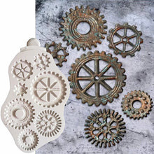 Load image into Gallery viewer, COG WHEELS & GEARS MOULD