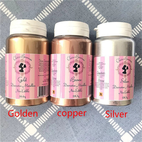CLAIRE BOWMAN METALLIC/GOLD LUSTER DUST 56 GMS (NON EDIBLE)