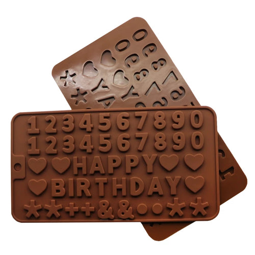 NUMBERS/LETTERS CHOCOLATE MOULD