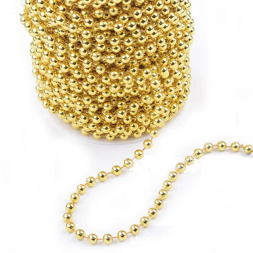 GOLD PEARLY STRING WITH LARGE PEARLS