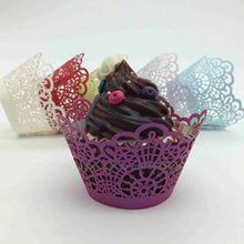 Load image into Gallery viewer, LASER CUT LACE CUPCAKE CAGES  - {12 Pcs}