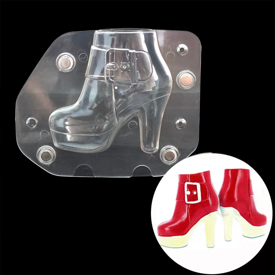 3D LADY BOOT POLYCARBONATE CHOCOLATE MOULD 1PC