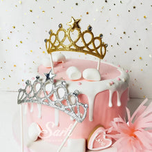 Load image into Gallery viewer, SILVER TIARA CAKE TOPPER
