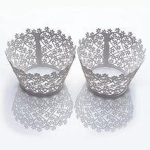 Load image into Gallery viewer, LASER CUT MINI BLOSSOMS CUPCAKE CAGES  - {12 Pcs}