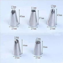 Load image into Gallery viewer, 5 PC STAINLESS STEEL MEDIUM NOZZLE SET
