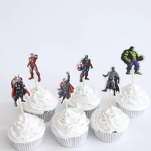 Load image into Gallery viewer, AVENGERS PAPER TOPPERS 24 PCS