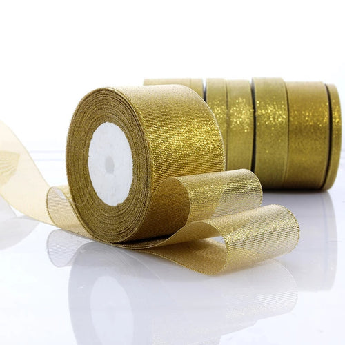 ORGANZA RIBBON GOLD