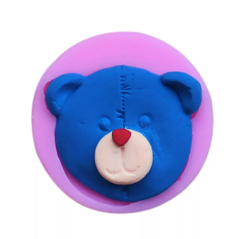 TEDDY BEAR FACE MOULD