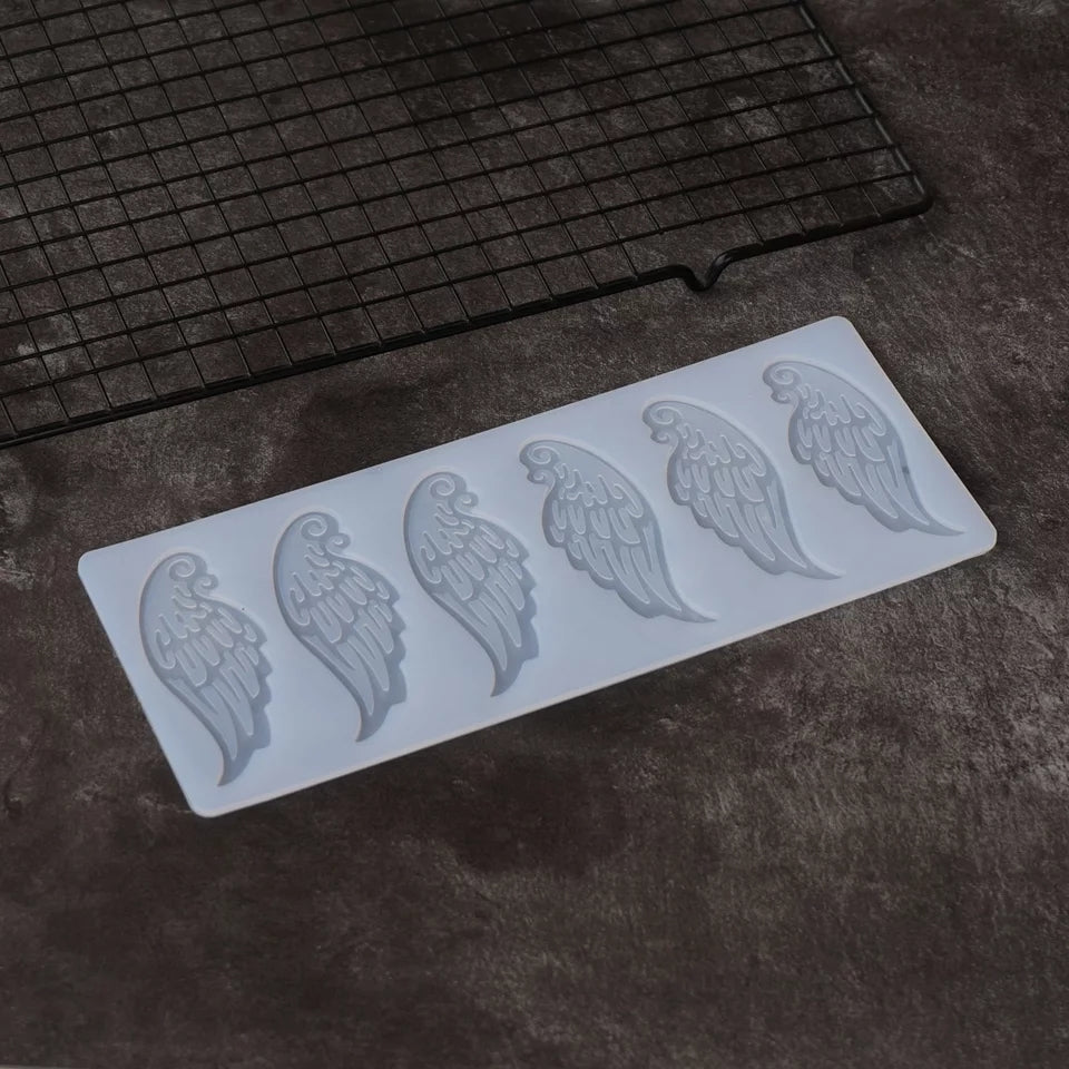 ANGEL WINGS CHOCOLATE CAGE/TOPPER MOULD (CLEAR)